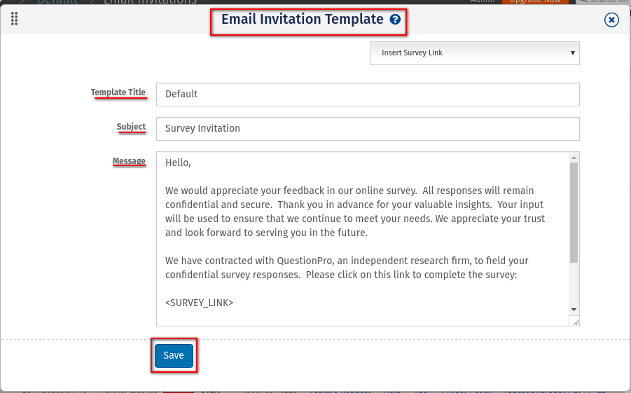 Creating Survey Invitation Email Surveyytics Online